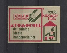 Collo Atomcoll Handcleaner Vintage Dutch Matchbox Label No.51 | eBay