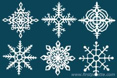 How to fold paper to make snowflakes with 4 and 8 points.