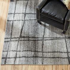 Mercury Row Zuri Chalkboard Checkers Light Gray Area Rug & Reviews | Wayfair