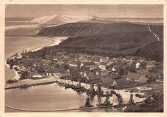 Nidden Kurische Nehrung Ostpreussen Dorfteil am Hafen Postkarte gel. 1942