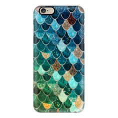 iPhone 6 Plus/6/5/5s/5c Case - REALLY MERMAID TIFFANY by Monika... ($40) ❤ liked on Polyvore featuring accessories, tech accessories, iphone case, iphone cover case and apple iphone cases