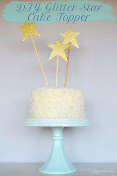 DIY Glitter Star Cake Topper