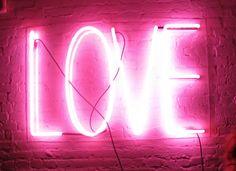 GIRLBOSS MOOD: Millennial Pink Neon Love Sign