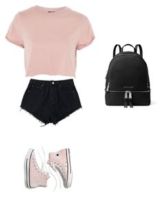 """""""Untitled #336"""" by ericanais on Polyvore featuring Topshop, Madewell and MICHAEL Michael Kors"""