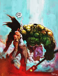 Hulk vs Wolverine by Jaime Alberto Ospina Miranda