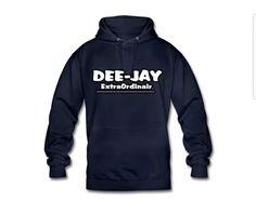 €31,99 order NOW! DeeJay Extraordinair Blue hoody. Match it with a DeeJay ExtraOrdinair snapback or trucker cap.