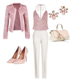 """""""Pretty N pink"""" by sam-babb ❤ liked on Polyvore featuring Jil Sander, Boohoo, Marchesa and Topshop"""