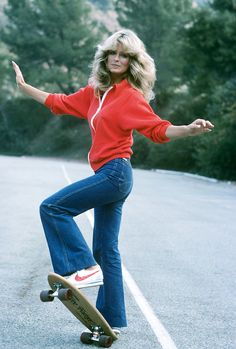 My Denim Icon is fun-loving Farrah Fawcett who is yours?