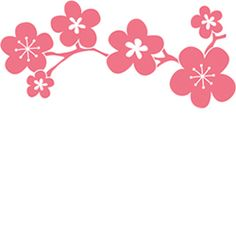 Cherry Blossoms Branch Large Rubber Stamp