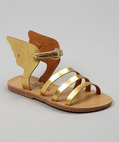 Love this Gold Sophie Sandal by QQ Girl on #zulily! #zulilyfinds