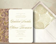 Modern Glamour Wedding Invitation Suite by oakandorchid on Etsy