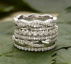Rings I just love the stackable rings, mixing up stones and yellow and white gold -----