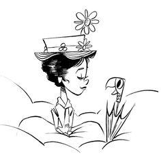 Paul O'Flanagan Art Blog: Mary Poppins Sketch