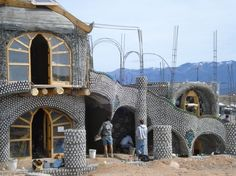 Newest earthship being built