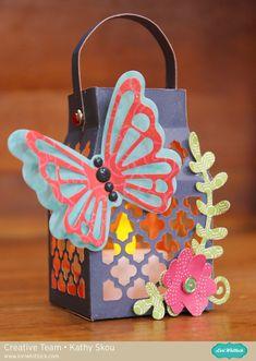 Lori Whitlock's New Sizzix Dies: Butterfly Lantern Thinlets Set