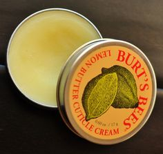 Burt's Bees Lemon Butter Cuticle Cream saved my nails!