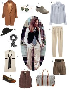 Woody Allen's Annie Hall... Really love anything baggy but still feminine.  Especially like the #10 blouse & tie