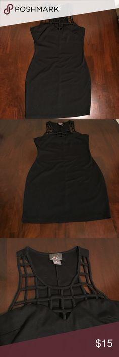 Black mini dress Black mini dress. Lightly worn. Dots Dresses Mini