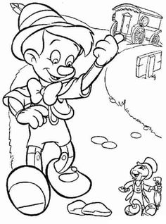 Pinocchio Coloring pages - Educational Fun Kids Coloring Pages and Preschool Skills Worksheets Cool Coloring Pages, Disney Coloring Pages, Mandala Coloring Pages, Adult Coloring Pages, Coloring Pages For Kids, Coloring Books, Coloring Sheets, Disney Cartoon Characters, Disney Cartoons