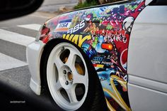 Stickerbomb'ed fender #Rwraps #StickerBomb #VinylWraps give you the look without…