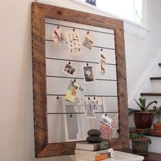 I have seen plenty of old bulletin boards in the thrift stores and this is a good idea, instead of buying a huge frame or trying to make scrap pieces of wood fit together. I'm very limited in the carpentry dept. Lol!