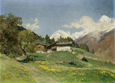 Spring in the Tyrolese Stubaital || Edward Harrison Compton, Oil