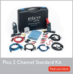 The Pico 2 Channel Standard Kit can be used on any type, make and model of vehicle without the need for expensive vehicle-specific harnesses or other add-ons.  The kits are supplied with PicoScope Automotive software. This feature-rich software is capable of capturing even the most complex of waveforms, yet the intuitive controls and comprehensive reference library ensures it is both quick and easy to use.  PicoScope Automotive software is free.