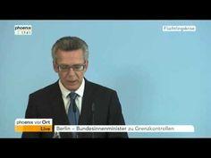 Thomas de Maizière verkündet Grenzkontrollen