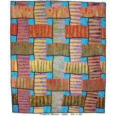 Tropical Weave quilt by bbusbyarts on Etsy #quilt #color #handmade #craft #art