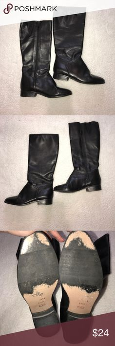 Naturalizer Tall Black Boots Size 7 1/2 Naturalizer Tall Black Boots Size 7 1/2 Cute Black Boots Naturalizer Shoes Heeled Boots