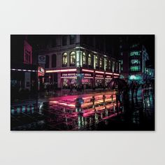 London Nights Canvas Print By Liam Wong - Graphic Design Director