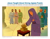 Jesus Taught About Giving Jigsaw Puzzle
