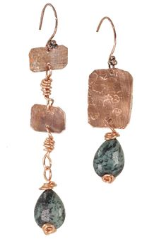 Handmade Design, Handmade Items, Copper Accessories, Drop Earrings, Shibori, Hippy, Boho Chic, Gifts, Etsy Shop