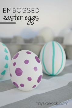 Embossed Easter Eggs- such a fun alternative to dying eggs and makes for a fun hand drawn look!