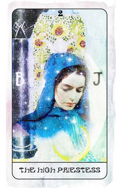 II. The High Priestess (Fantine/Les Misérables/Anne Hathaway) - Heart of Stars Tarot by Thom Pham