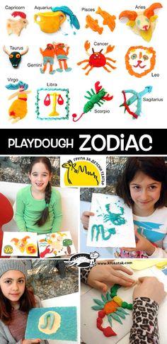 krokotak |   DIY Playdough Zodiac
