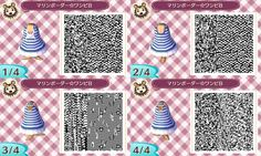 ACNL QR Code: Nautical Striped Dress