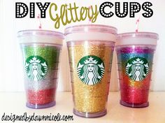 Not technically a msaon jar, ok its not. nut these are super DIY Glittery Cups Cute Crafts, Crafts To Do, Diy Craft Projects, Projects To Try, Arts And Crafts, I Love Diy, Cool Diy, Craft Gifts, Diy Gifts