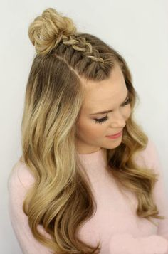 Trendy hairstyles for school teens medium lengths men hair - Hair Styles For School Prom Hair Medium, Medium Hair Styles, Curly Hair Styles, Open Hairstyles, Dance Hairstyles, Natural Hairstyles, Feathered Hairstyles, Wedding Hairstyles, Mohawk Hairstyles