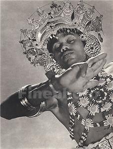 1930's Vintage CEYLON Sri Lanka EXOTIC MALE Costume Dance Photo Art LIONEL WENDT #Photography