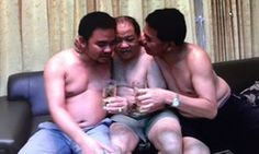 Boonchai, Keosavang and Bach Van Limh pictured together on holiday.