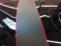 MINI Cooper Bonnet Stripes Matte Black with Red Pin – 03
