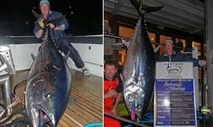 Woman hauls in massive 143.7kg tuna big enough to feed a whole town