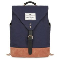 42.91$  Buy here - http://viqsd.justgood.pw/vig/item.php?t=yb66te74166 - Korean Style Contrast Color Korean Backpack School Canvas Back pack Students Sch
