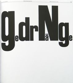Emil Ruder, Jam – Gedränge, from his book Typographie, 1967. Chapter Unity of Text and Form. Re-edition Niggli