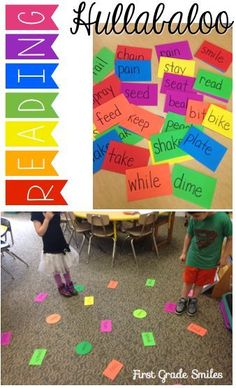 Active sight word game for kids. Hullabaloo!! Great for those kinesthetic learners.