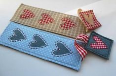 FREE Heart Bookmark pattern from The Patchsmith.