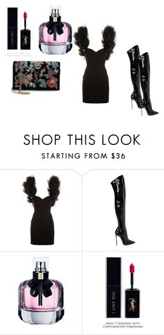 """""""."""" by vania-viana ❤ liked on Polyvore featuring Yves Saint Laurent and Casadei"""