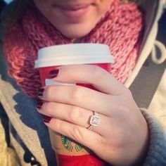 Or use it as a prop! | 29 Engagement Ring Instagram Ideas You'll Want To Say Yes To