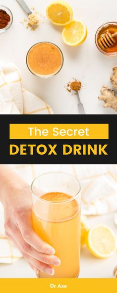 Secret Detox Drink Recipe (A Natural Detox Drink If you are feeling weighed down and sluggish, it may be time for this secret detox drink, which can help cleanse your body and make you feel rejuvenated. Detox Tea Diet, Liver Detox Cleanse, Detox Your Liver, Detox Drinks, Juice Cleanse, Body Cleanse, Mark Hyman, Easy Juice Recipes, Cleanse Recipes